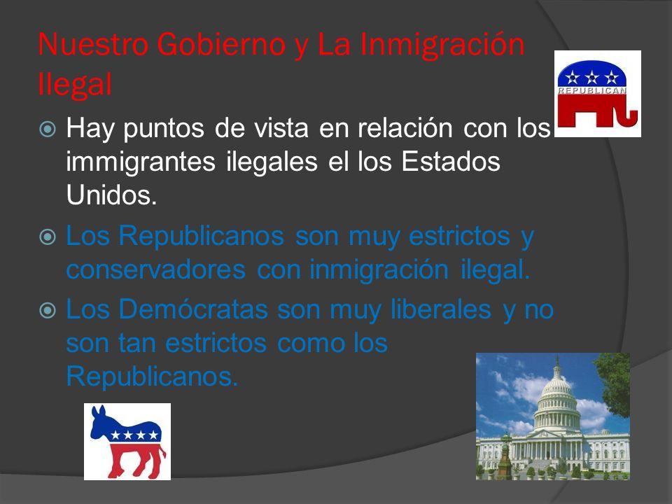 Nuestro Gobierno y La Inmigración Ilegal Hay puntos de vista en relación con los immigrantes ilegales el los Estados Unidos.