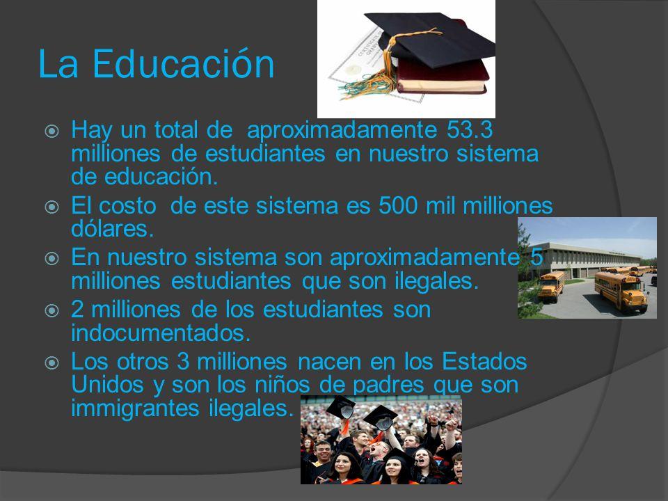 La Educación Hay un total de aproximadamente 53.3 milliones de estudiantes en nuestro sistema de educación.