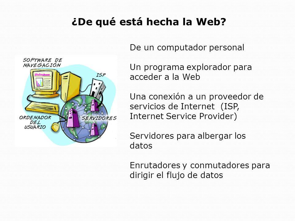 Como Funciona la Web Las páginas Web están almacenadas en servidores Web situados por todo el mundo.