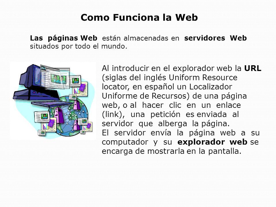 Páginas Web Una página web es un documento electrónico escrito en un lenguaje llamado HTML (siglas del inglés Hypertext Markup Language, o Lenguaje de Marcación de Hipertexto).
