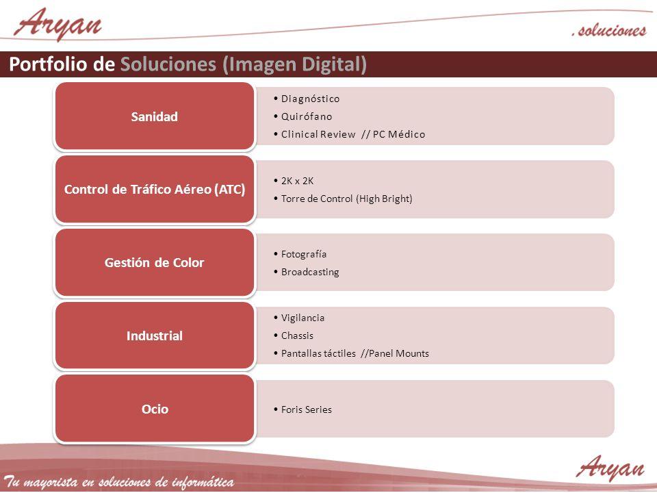 Portfolio de Soluciones (Imagen Digital) Sanidad 2K x 2K Torre de Control (High Bright) Control de Tráfico Aéreo (ATC) Fotografía Broadcasting Gestión