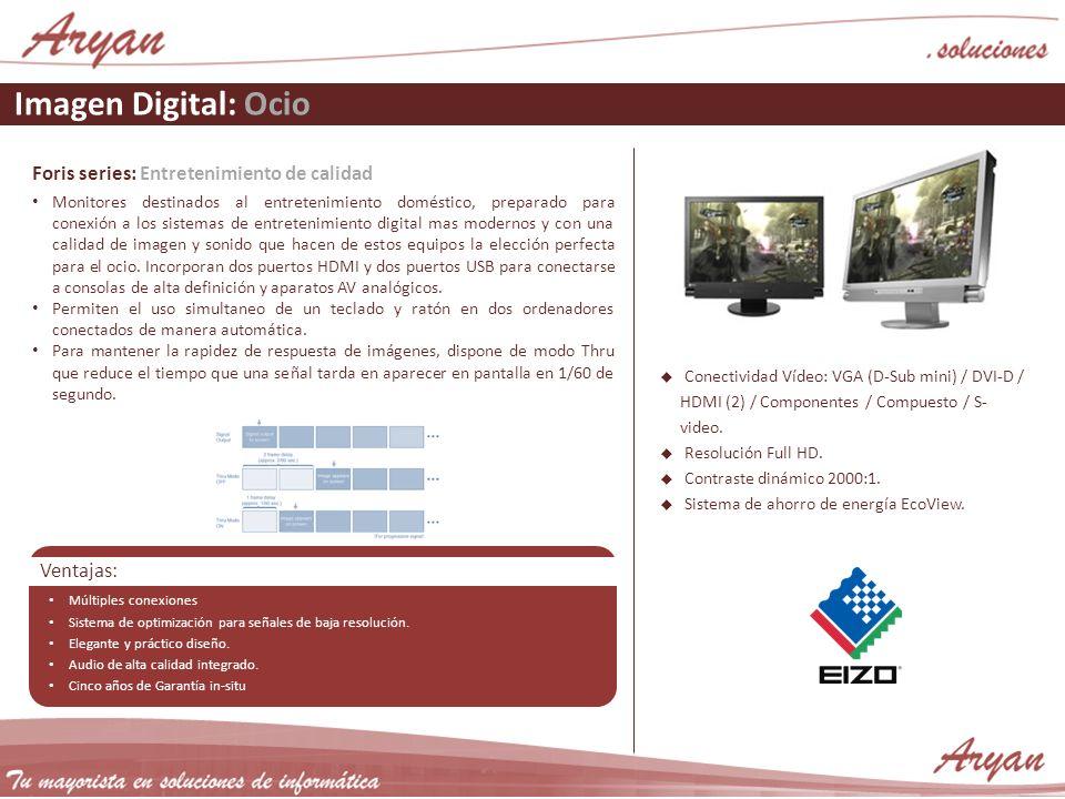 Imagen Digital: Ocio Foris series: Entretenimiento de calidad Monitores destinados al entretenimiento doméstico, preparado para conexión a los sistema