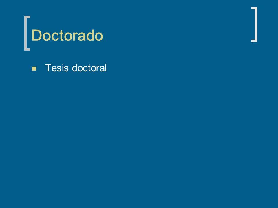 Doctorado Tesis doctoral