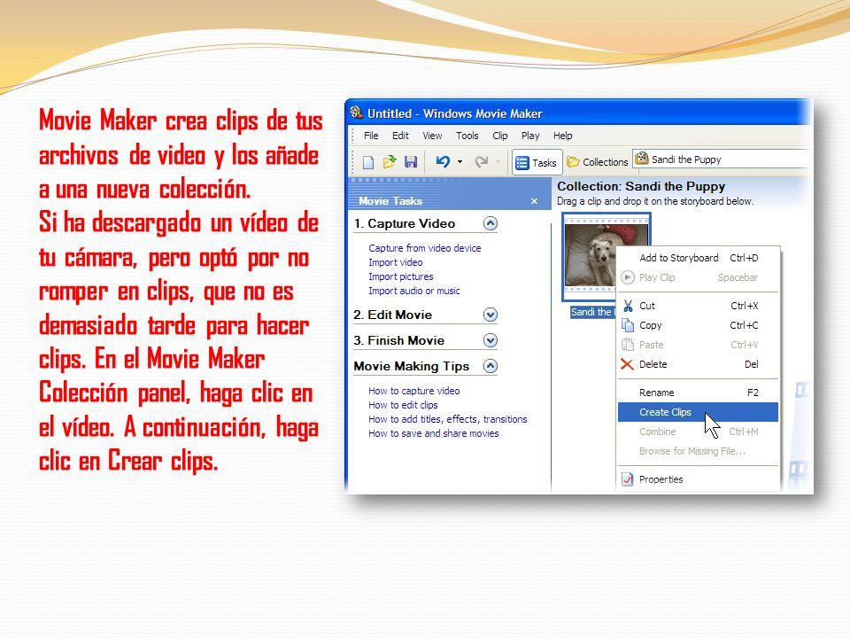 2. En la importación de archivos cuadro de diálogo, seleccione el crear clips de vídeo para archivos casilla de verificación (que es seleccionado por