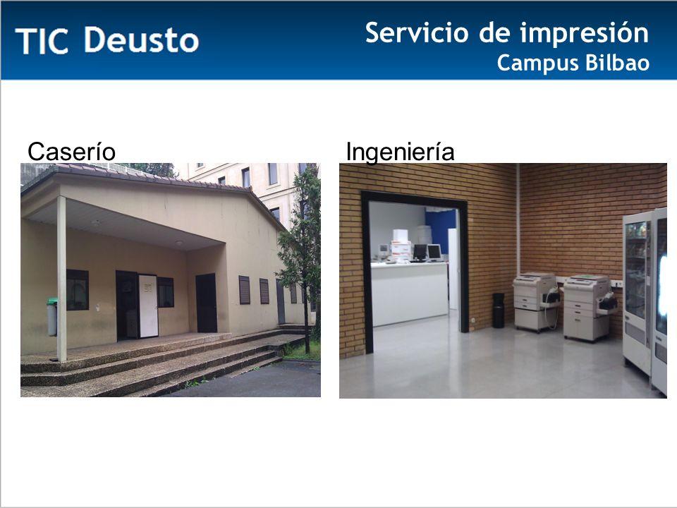 IngenieríaCaserío Servicio de impresión Campus Bilbao