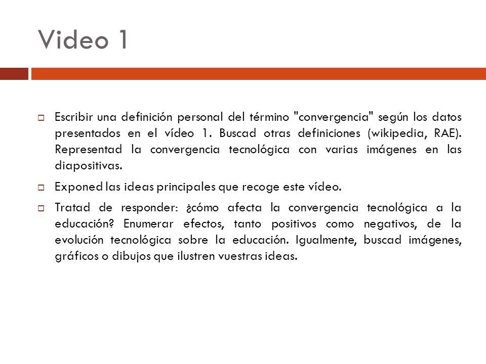 Video 1 Escribir una definición personal del término