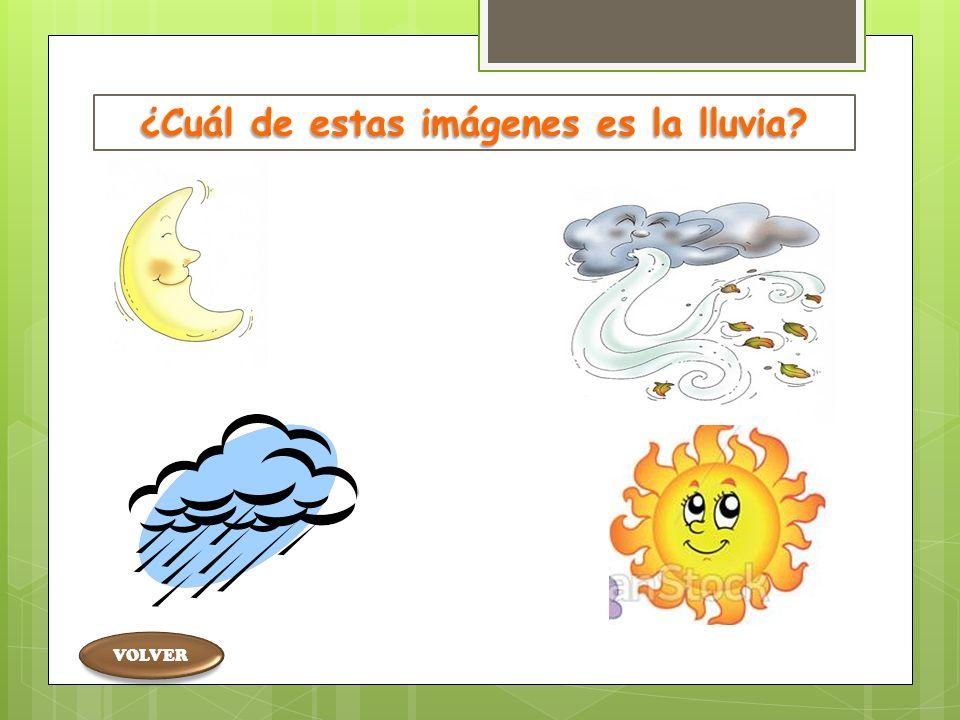 ¿Cuál de estas imágenes es la lluvia. ¿Cuál está en estado gaseoso.