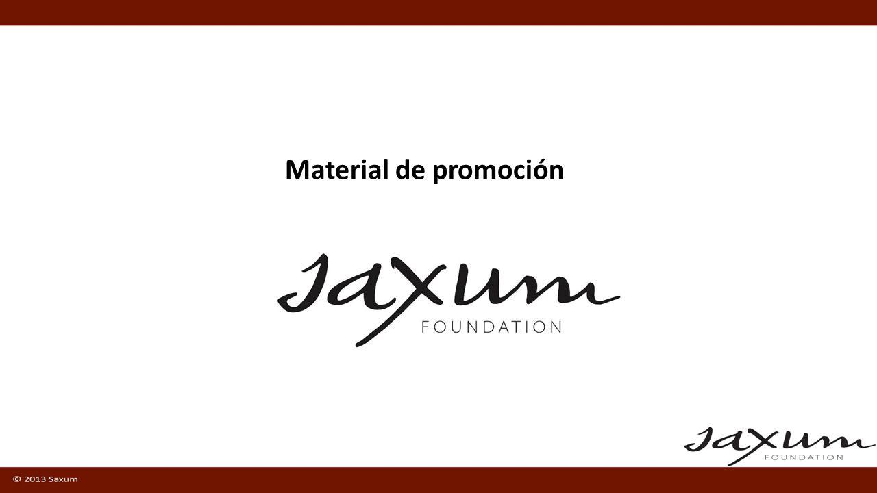 Videos de promoción (Español e Inglés) Pagina web http://www.saxum.org/previewhttp://www.saxum.org/preview Guidelines para presentar esos videos Folleto pequeño descargable.