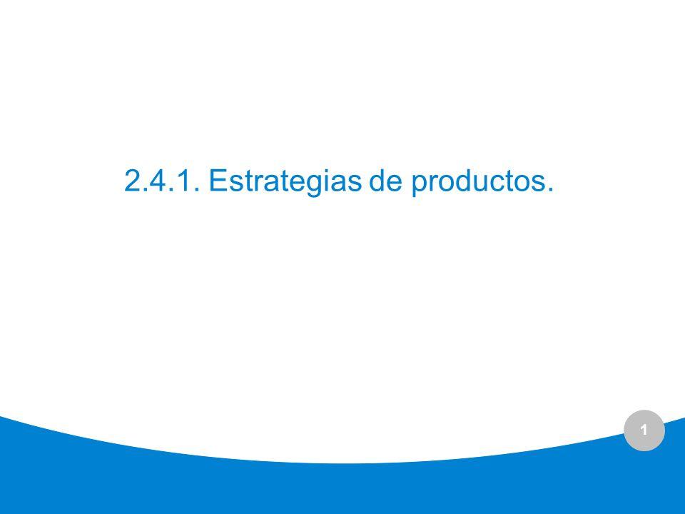 1 2.4.1. Estrategias de productos.