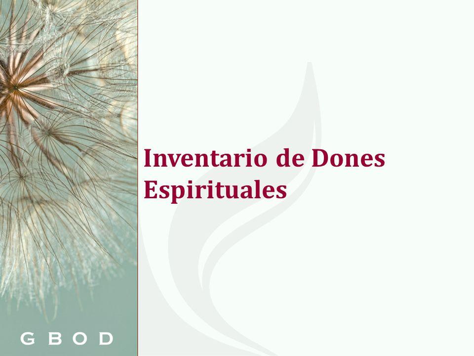 Inventario de Dones Espirituales