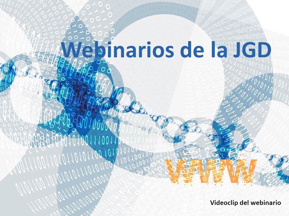Webinarios de la JGD Videoclip del webinario