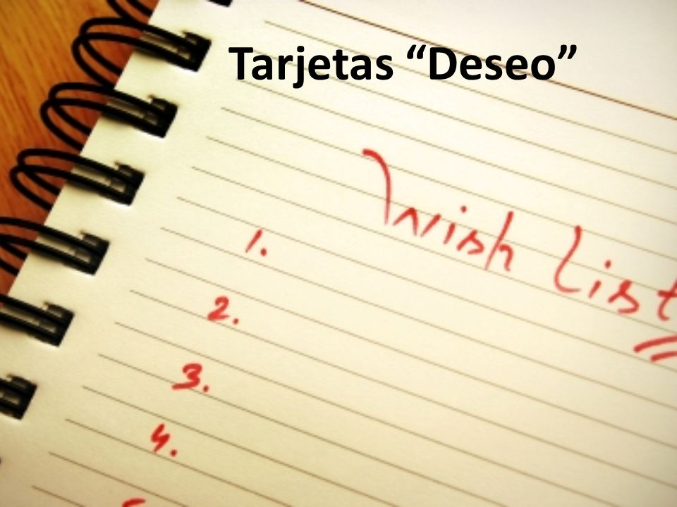 Tarjetas Deseo