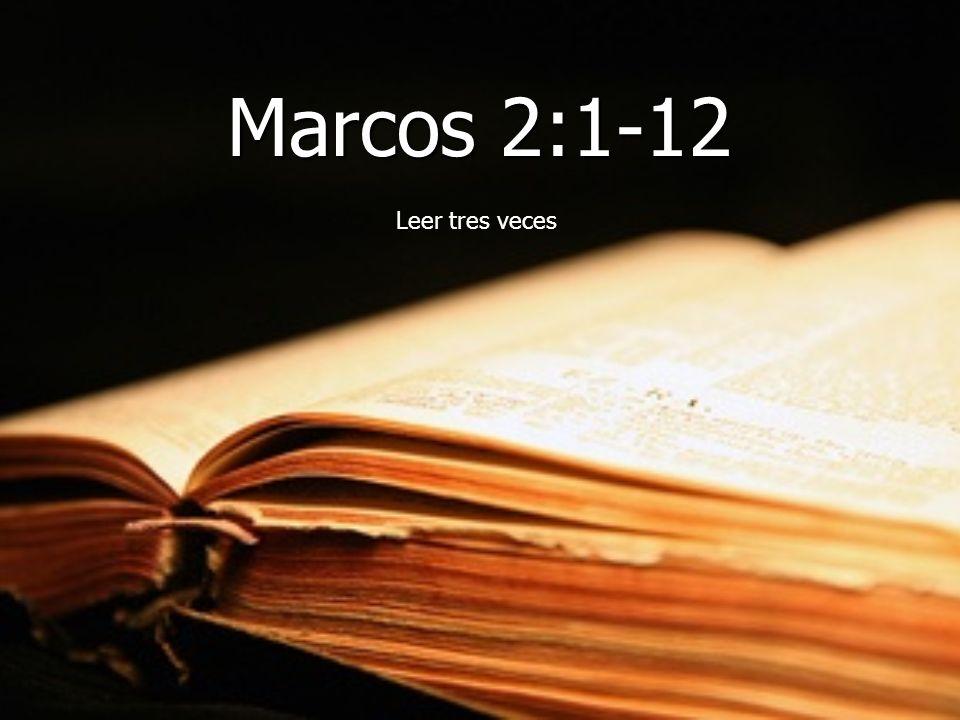 Marcos 2:1-12 Leer tres veces