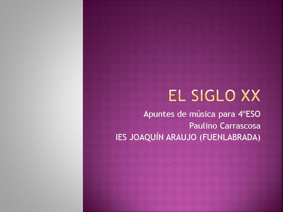Apuntes de música para 4ºESO Paulino Carrascosa IES JOAQUÍN ARAUJO (FUENLABRADA)
