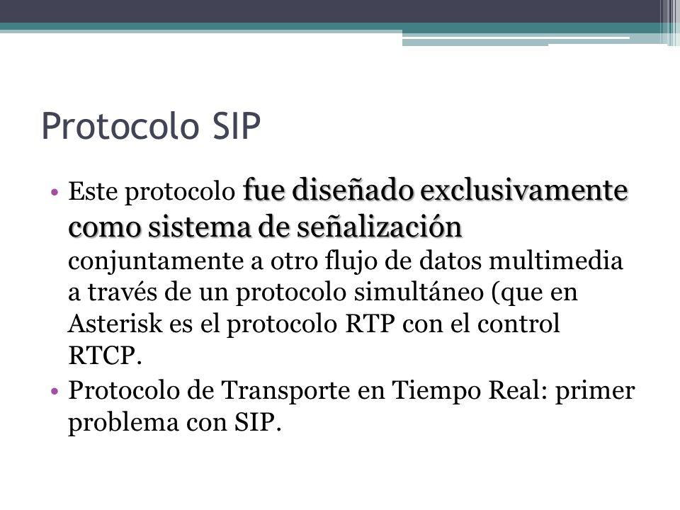 Protocolo SIP fue diseñado exclusivamente como sistema de señalizaciónEste protocolo fue diseñado exclusivamente como sistema de señalización conjunta