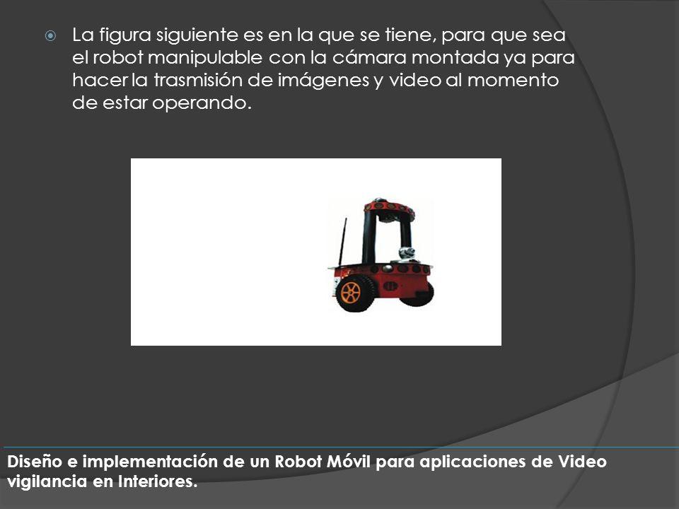 La figura siguiente es en la que se tiene, para que sea el robot manipulable con la cámara montada ya para hacer la trasmisión de imágenes y video al