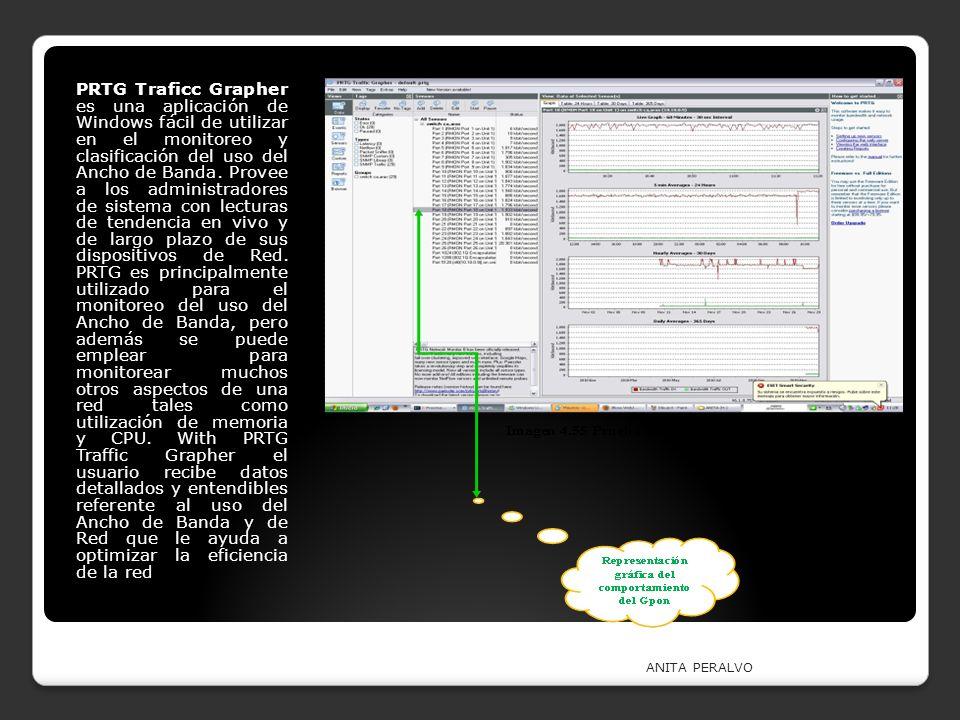 ANITA PERALVO PRTG Traficc Grapher es una aplicación de Windows fácil de utilizar en el monitoreo y clasificación del uso del Ancho de Banda. Provee a