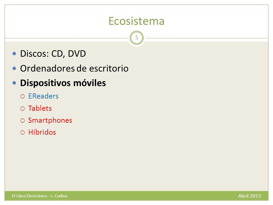 Ecosistema Abril 2013 El Libro Electrónico - L.