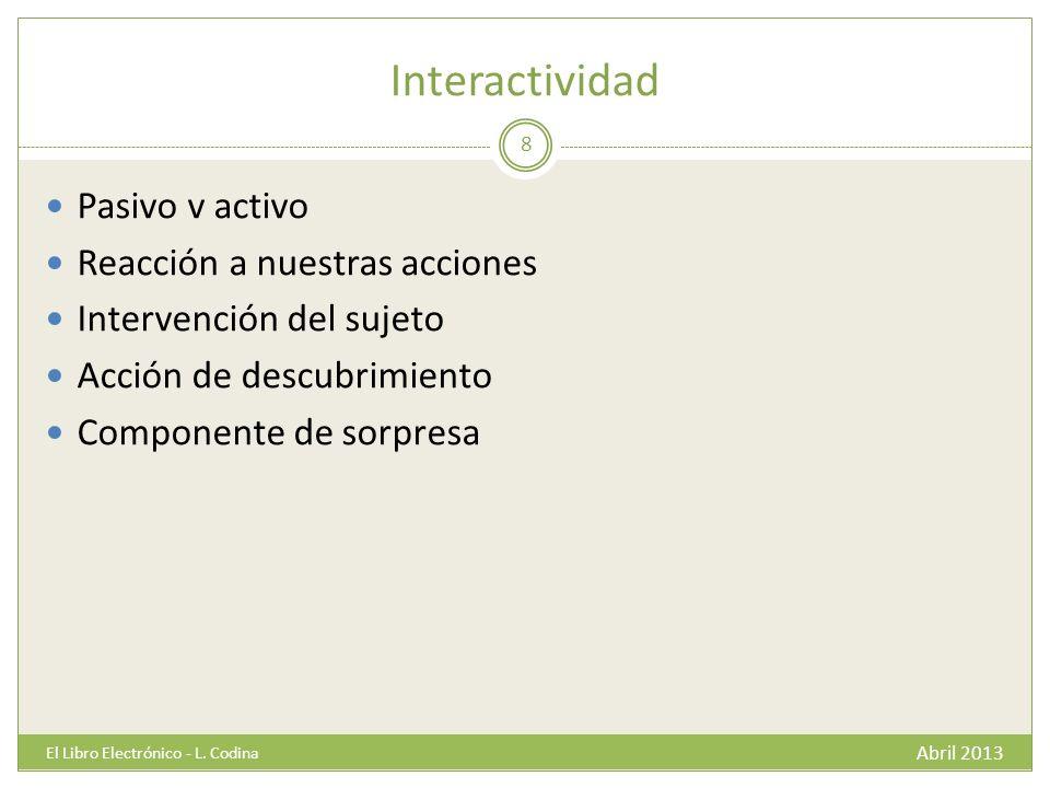 Hipertextualidad Abril 2013 El Libro Electrónico - L.