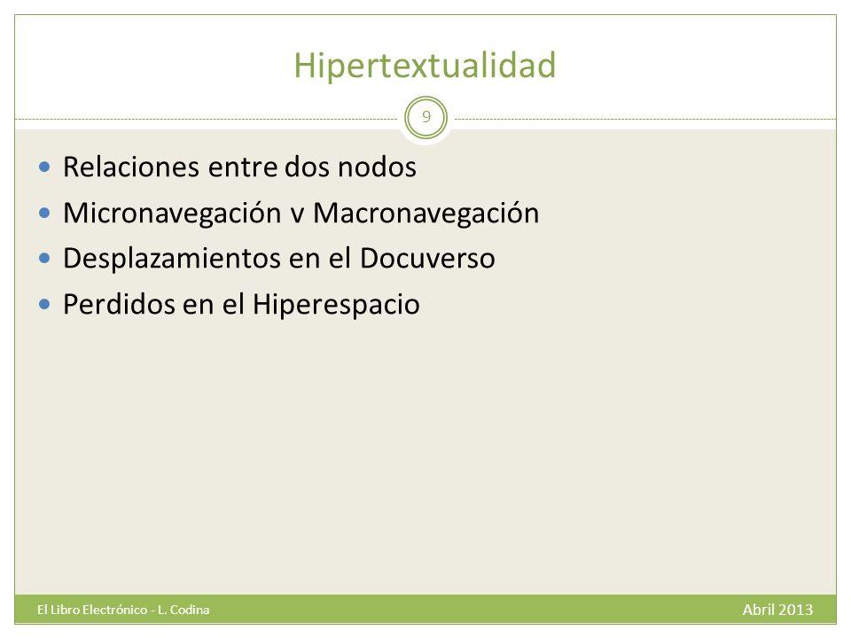Algunos casos Abril 2013 El Libro Electrónico - L.