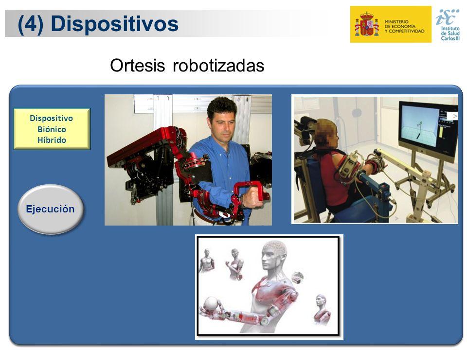 22 Ejecución Dispositivo Biónico Híbrido (4) Dispositivos Ejecución Ortesis robotizadas Dispositivo Biónico Híbrido