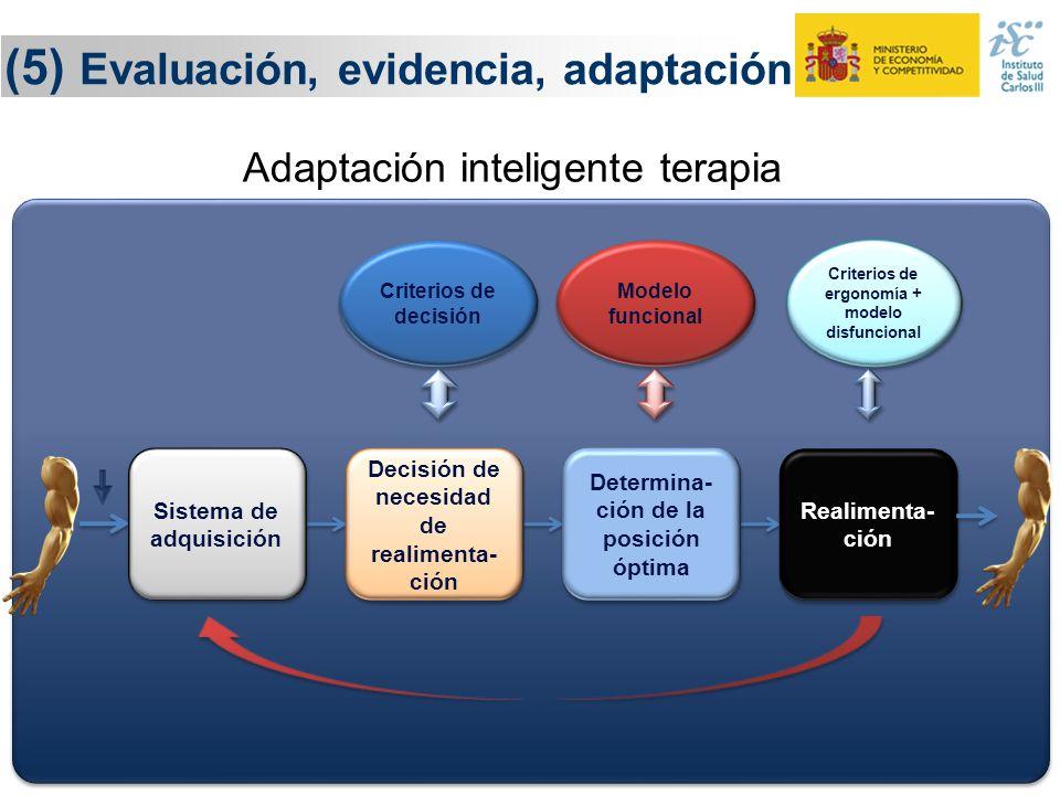 25 (5) Evaluación, evidencia, adaptación Adaptación inteligente terapia Criterios de decisión Modelo funcional Criterios de ergonomía + modelo disfunc