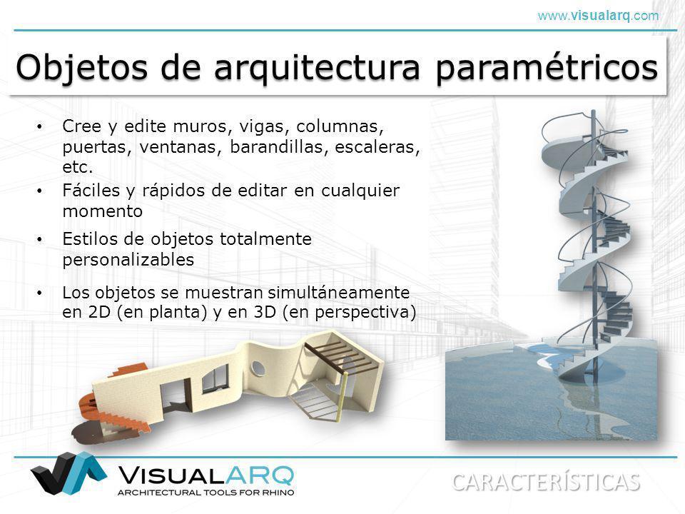 www.visualarq.com Arquitectura de formas libres VisualARQ admite NURBS.