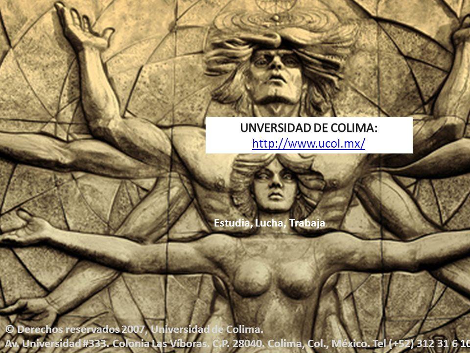 © Derechos reservados 2007, Universidad de Colima.