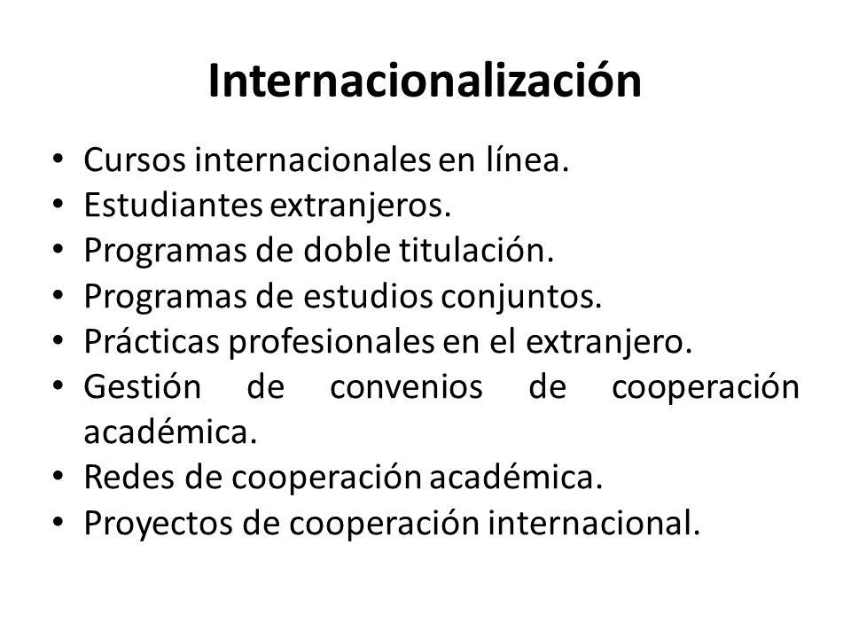 Internacionalización Cursos internacionales en línea.