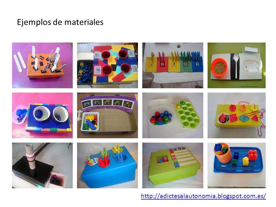 Ejemplos de materiales http://adictesalautonomia.blogspot.com.es/
