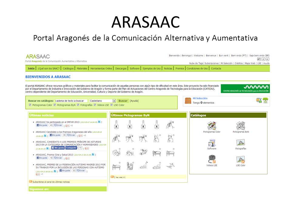 ARASAAC Portal Aragonés de la Comunicación Alternativa y Aumentativa