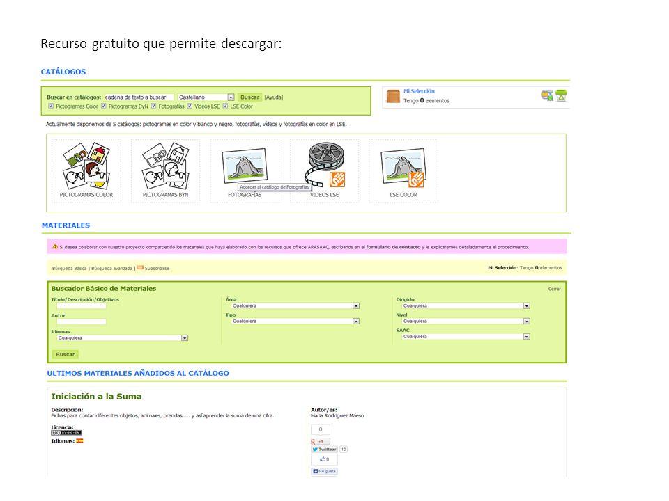 Recurso gratuito que permite descargar: