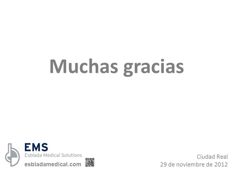 Ciudad Real 29 de noviembre de 2012 Muchas gracias esbladamedical.com