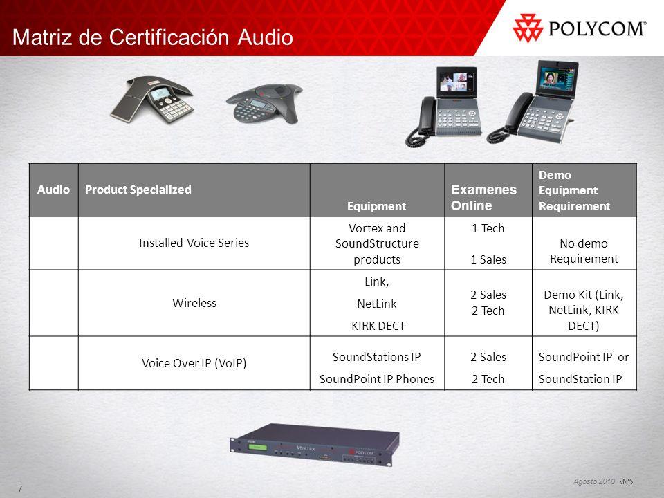 Nº Agosto 2010 Solicitar la Certificación Llenar el formato online Seleccionar las líneas de producto sobre las que se aplicará.
