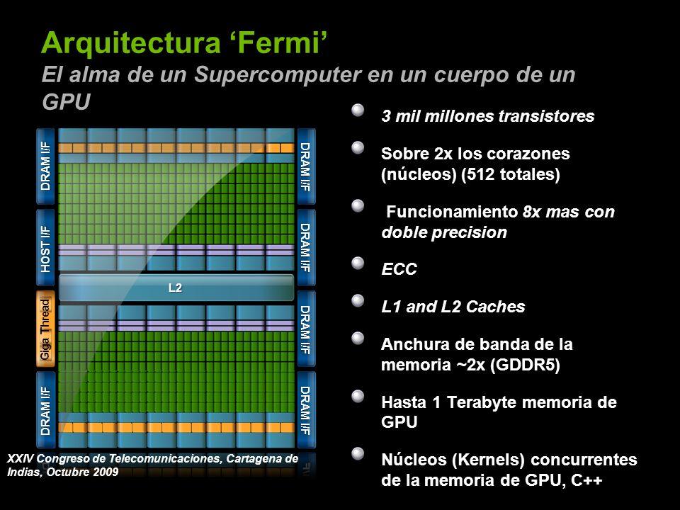 © NVIDIA Corporation 2008NVIDIA Restricted Confidential 30 Arquitectura Fermi El alma de un Supercomputer en un cuerpo de un GPU 3 mil millones transi