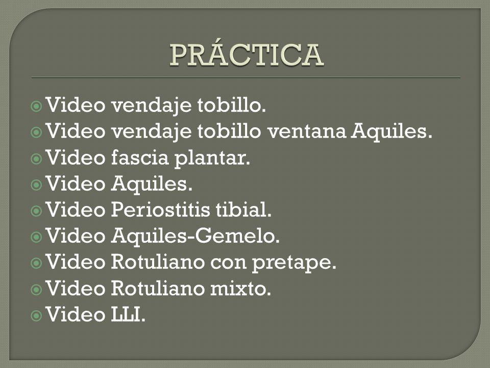 Video vendaje tobillo.Video vendaje tobillo ventana Aquiles.