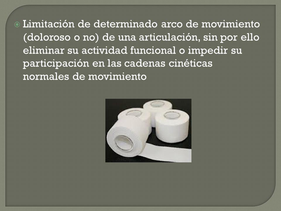 Limitación de determinado arco de movimiento (doloroso o no) de una articulación, sin por ello eliminar su actividad funcional o impedir su participac