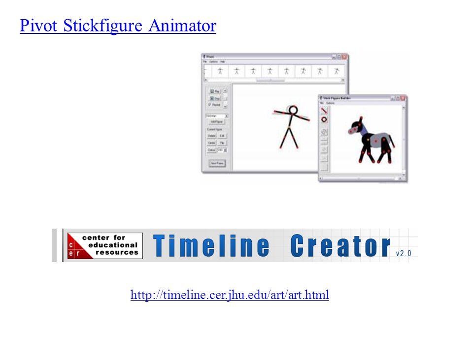Pivot Stickfigure Animator http://timeline.cer.jhu.edu/art/art.html