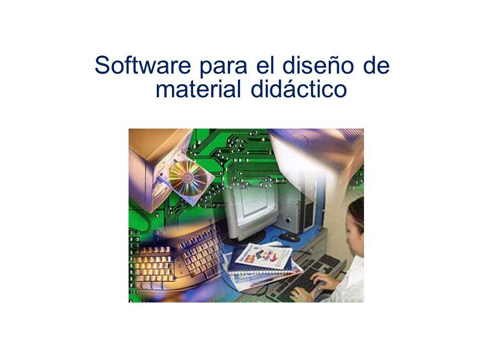 Software para el diseño de material didáctico