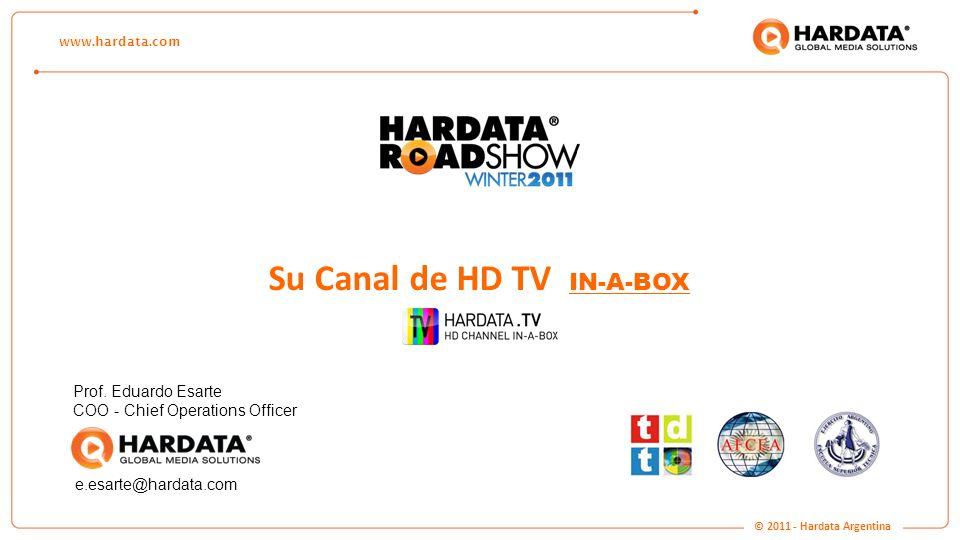 www.hardata.com Su Canal de HD TV IN-A-BOX Prof. Eduardo Esarte COO - Chief Operations Officer e.esarte@hardata.com © 2011 - Hardata Argentina