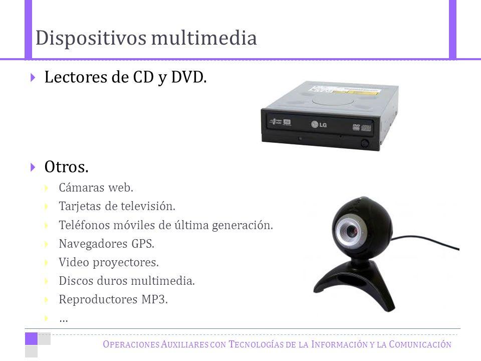O PERACIONES A UXILIARES CON T ECNOLOGÍAS DE LA I NFORMACIÓN Y LA C OMUNICACIÓN Lectores de CD y DVD.