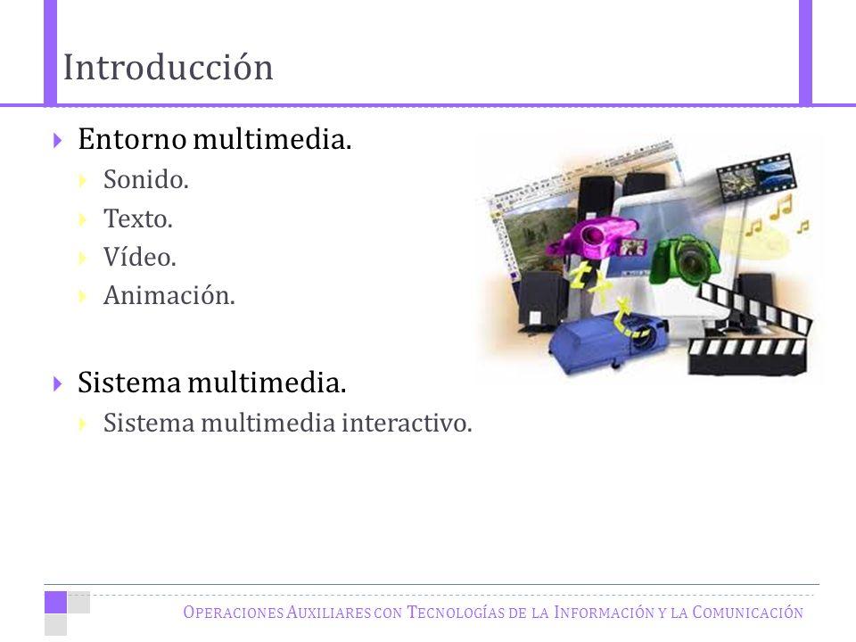 Introducción O PERACIONES A UXILIARES CON T ECNOLOGÍAS DE LA I NFORMACIÓN Y LA C OMUNICACIÓN Entorno multimedia.