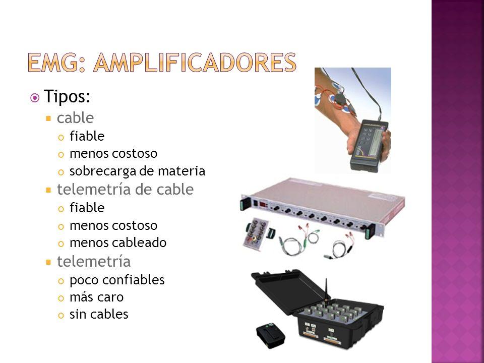 Tipos: cable fiable menos costoso sobrecarga de materia telemetría de cable fiable menos costoso menos cableado telemetría poco confiables más caro si