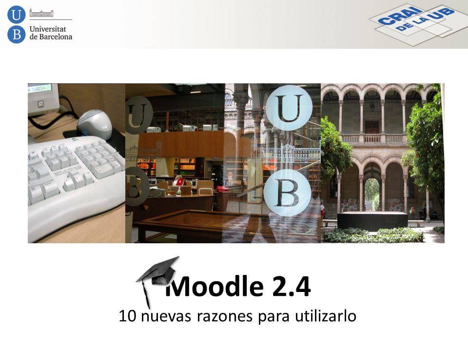 Moodle 2.4 10 nuevas razones para utilizarlo