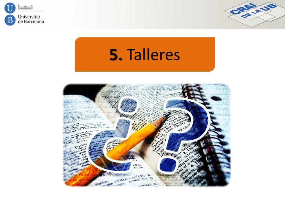 5. 5. Talleres