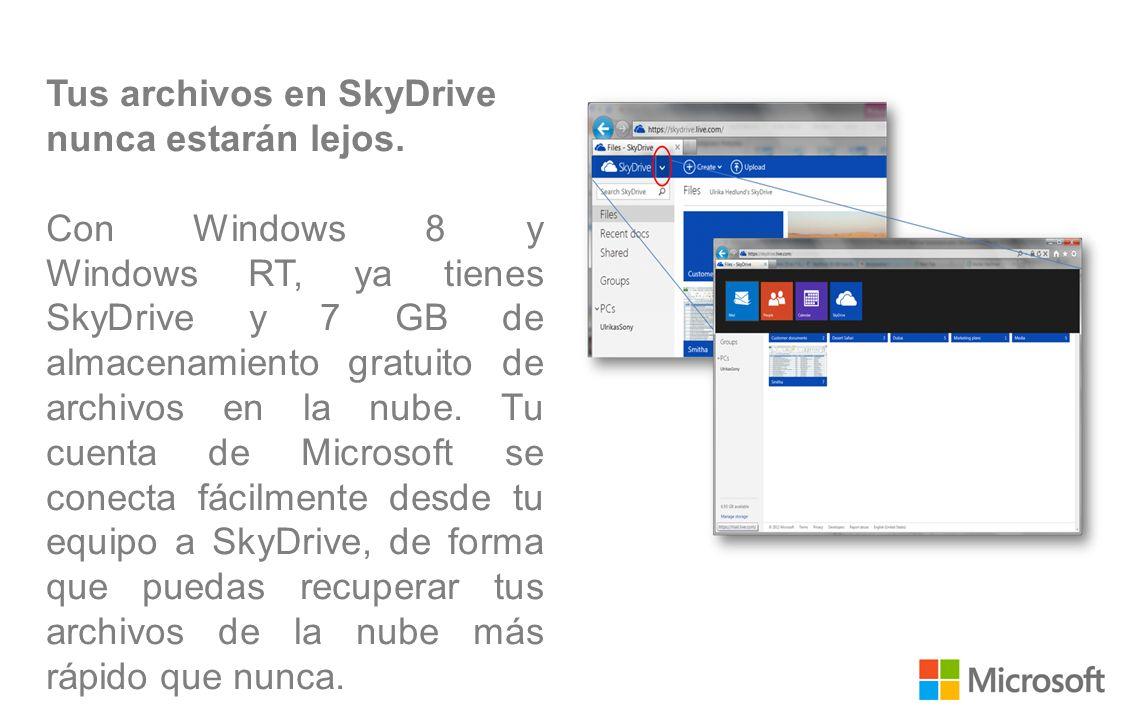 Tus archivos en SkyDrive nunca estarán lejos.