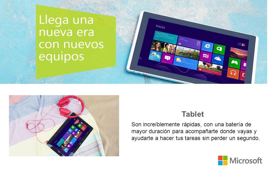 Windows 8 brinda una forma rápida y más personal de trabajar y jugar en cualquier computadora personal, tablet, teléfono o consola desde prácticamente cualquier parte.