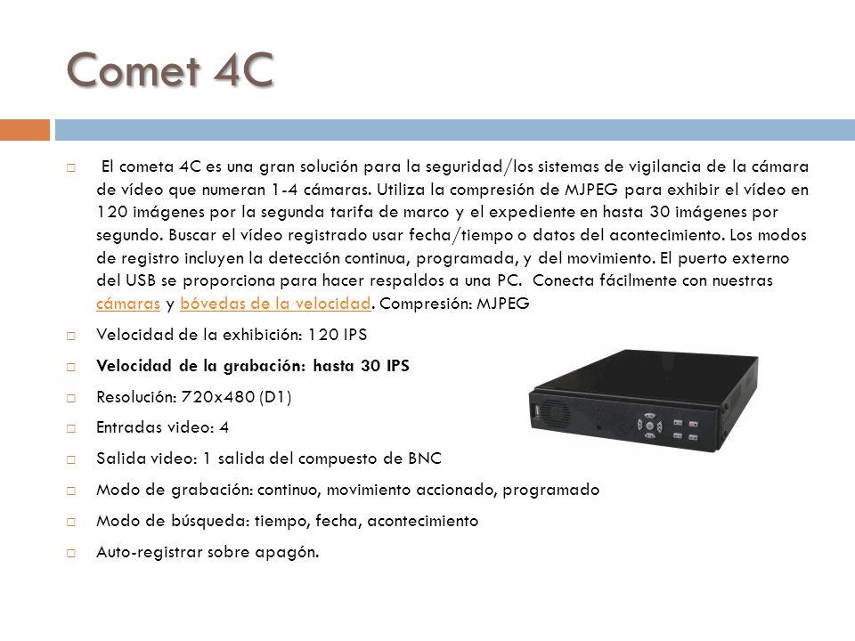 Comet 4C El cometa 4C es una gran solución para la seguridad/los sistemas de vigilancia de la cámara de vídeo que numeran 1-4 cámaras. Utiliza la comp