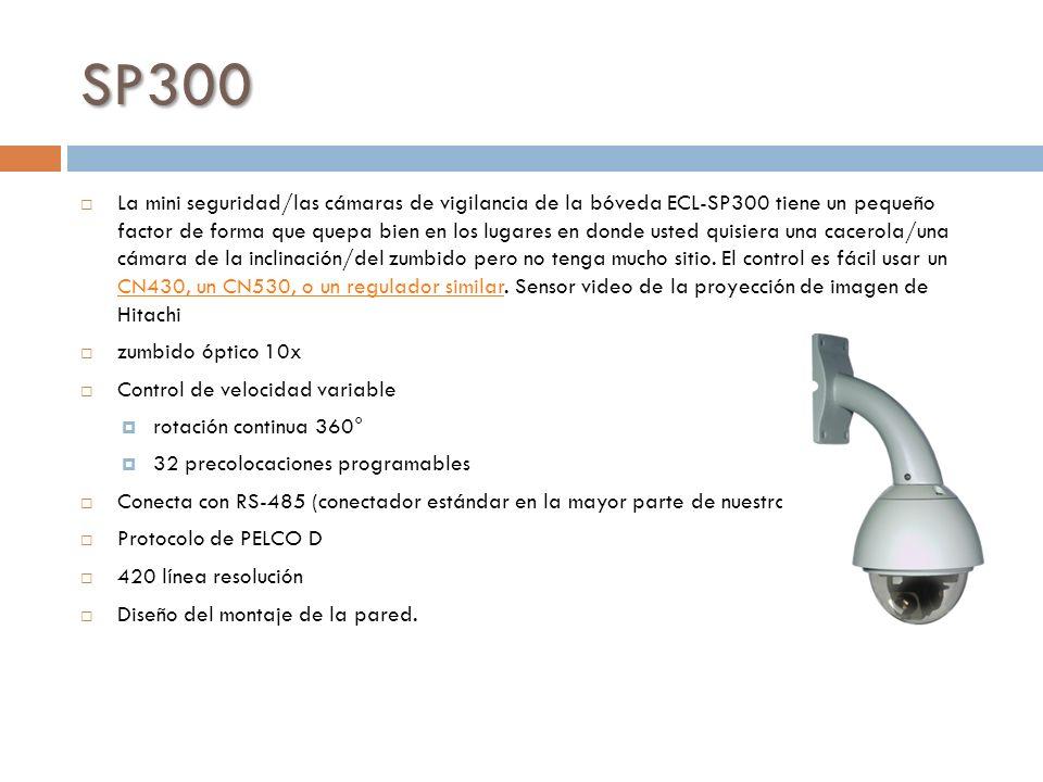 SP300 La mini seguridad/las cámaras de vigilancia de la bóveda ECL-SP300 tiene un pequeño factor de forma que quepa bien en los lugares en donde usted