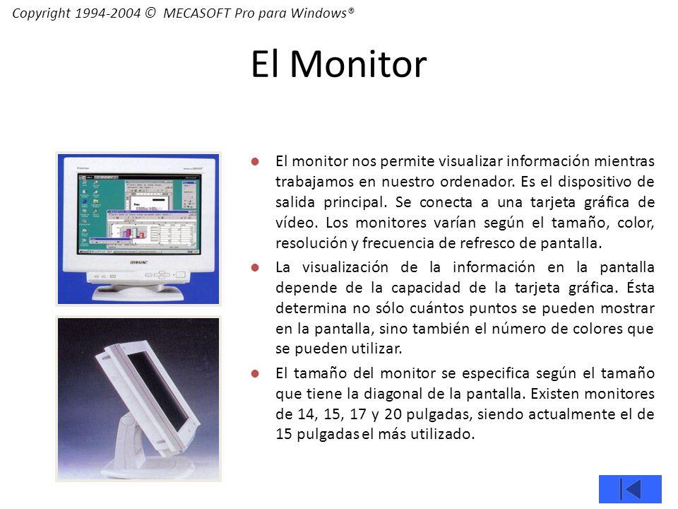 El monitor nos permite visualizar información mientras trabajamos en nuestro ordenador.